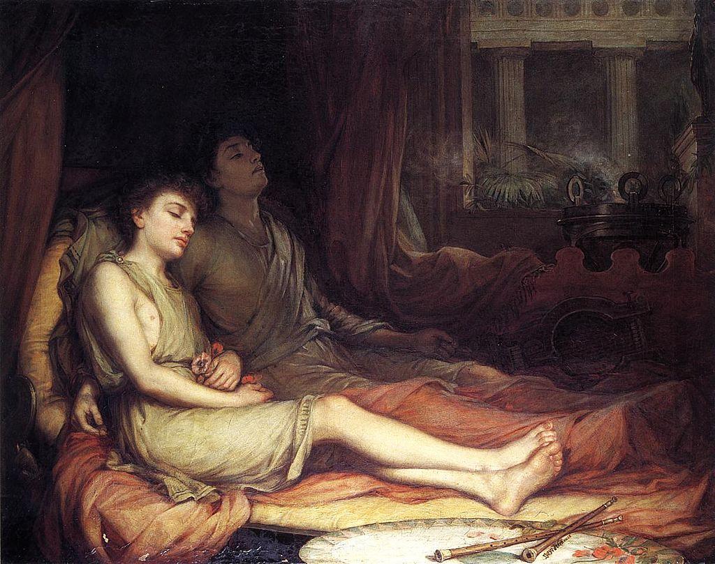John William Waterhouse: Sleep and his Half-brother Death, 1874